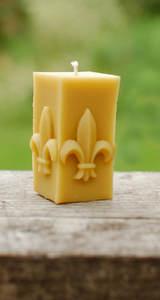 Beeswax Candle Fleur de Lis